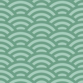 overlapping circles in green