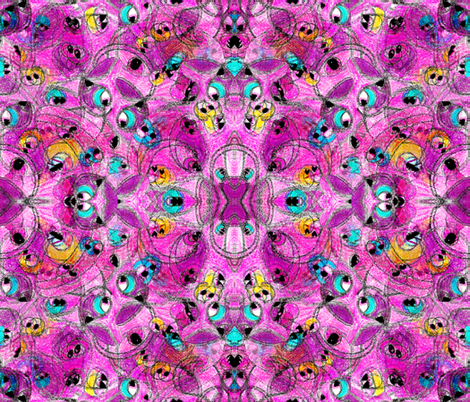 Not Every Monster is Ugly in Mirror Repeat fabric by anniedeb on Spoonflower - custom fabric