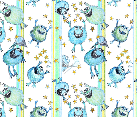 star_catcher_monsters fabric by kgarvey on Spoonflower - custom fabric