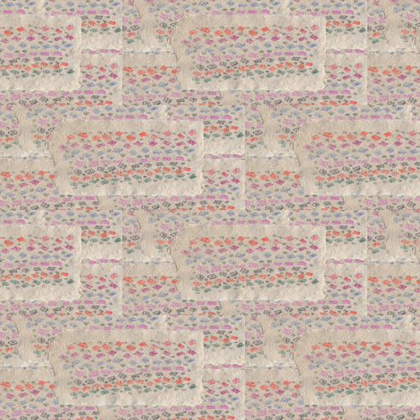 Crayon on Handmade Paper (horizontal) fabric by anniedeb on Spoonflower - custom fabric
