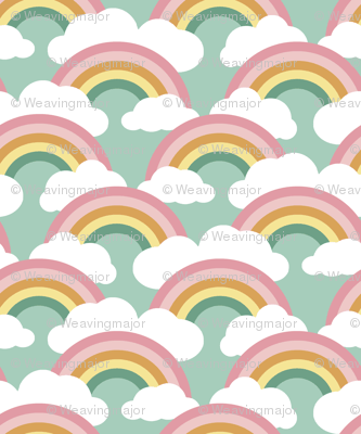 spring rainbow scallop - blue sky