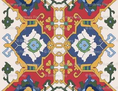 16th Century Floral Border Color Request VI.