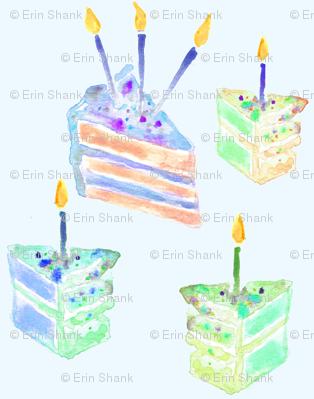 birthday cake blue mini