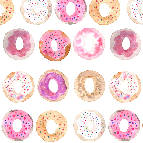 donuts fabric by erinanne on Spoonflower - custom fabric