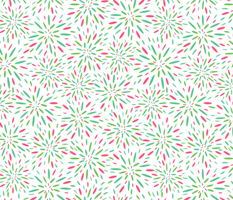 Starburst, Pistachio + Pink fabric by kateriley on Spoonflower - custom fabric