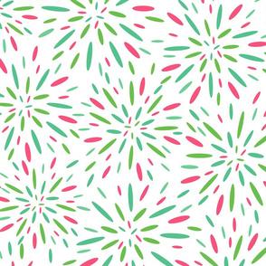 Starburst, Pistachio + Pink