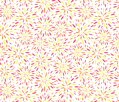 Starburst, Tropical Punch fabric by kateriley on Spoonflower - custom fabric