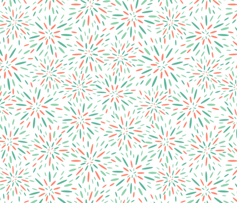 Starburst, Apricot + Mint fabric by kateriley on Spoonflower - custom fabric
