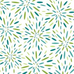 Starburst, Aqua + Lime
