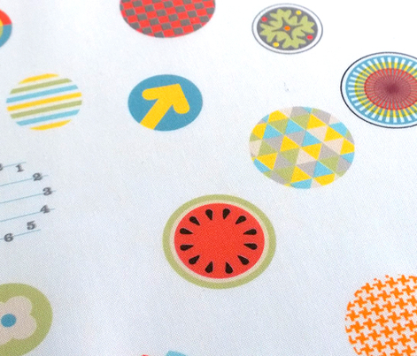 Faces in the Crowd    geometric circles typography graphic bubbles scatter polka dots swatch watch faces time 80s