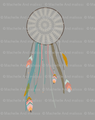 Dreamcatcher on Gray