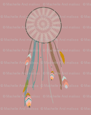 Dreamcatcher on Dusty Rose