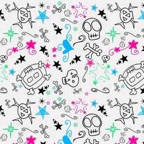 Skullbuddies Pink/Green/Aqua