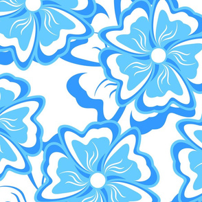 Blue seamless background.