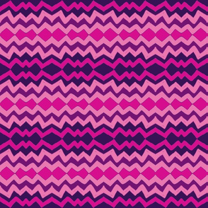 lazy zigzag in ombre purple & pink
