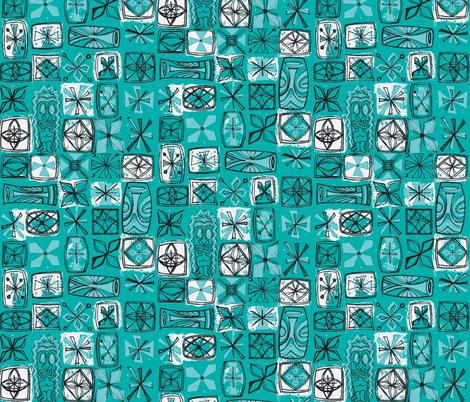 Castaway Cloth - lagoon fabric by sophista-tiki_by_dawn_frasier on Spoonflower - custom fabric