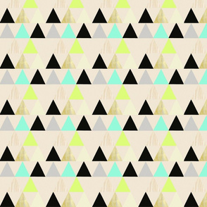 Lime and Aqua Triangle