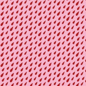 Blood rain on pink background