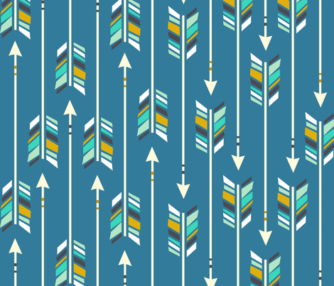 Large arrows little boy blue fabric nadiahassan for Little boy fabric