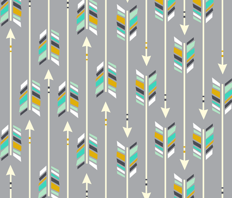 Large Arrows: Rainshine fabric by nadiahassan on Spoonflower - custom fabric