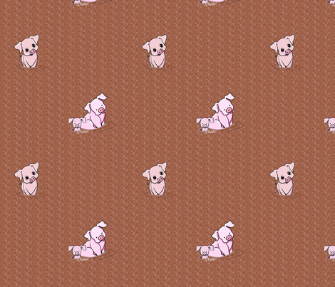 Mud Bath Pigs fabric by kiniart on Spoonflower - custom fabric