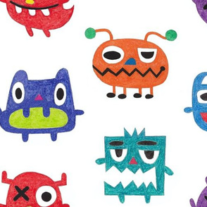 Crayon Crazy Monsters