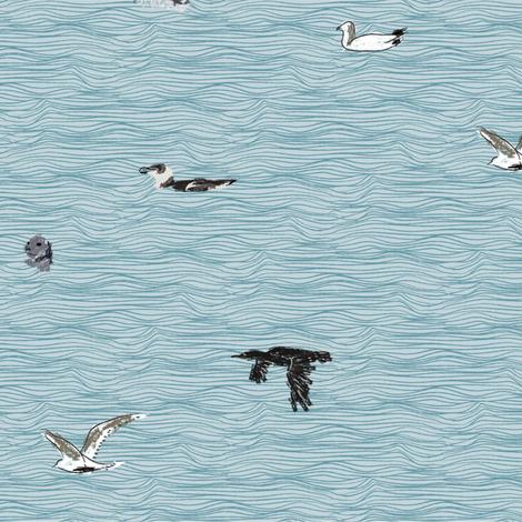 British Sea Birds fabric by crumpetsandcrabsticks on Spoonflower - custom fabric