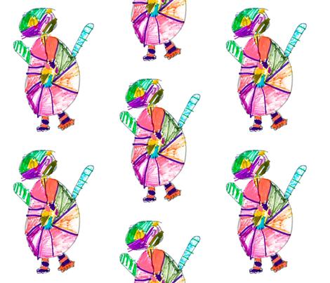 John's Mini Martians fabric by mirajeandesigns on Spoonflower - custom fabric