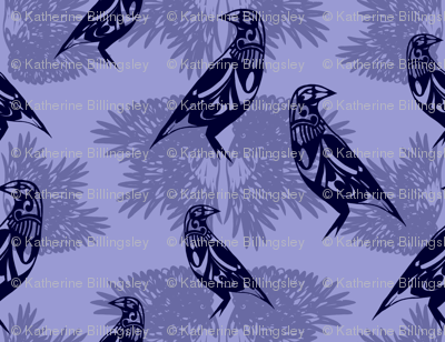 Magpie in Lilac