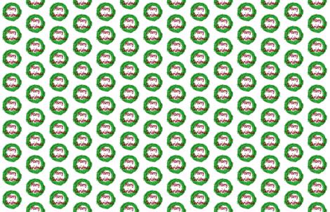 Christmas Wreath  fabric by pila_fashion_design on Spoonflower - custom fabric