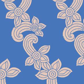 bali flower blue