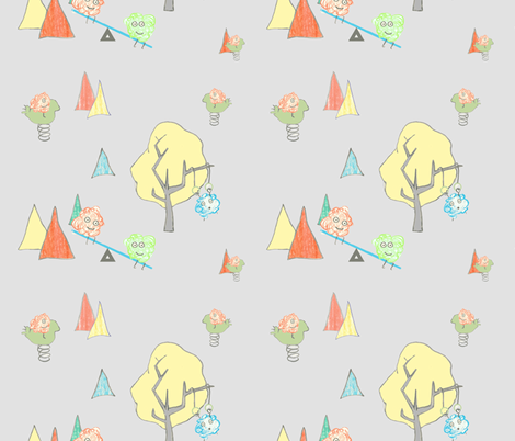 monster playground fabric by monkeysandwich on Spoonflower - custom fabric