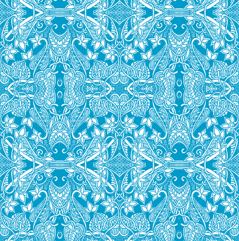 Dancing Spring Blues fabric by edsel2084 on Spoonflower - custom fabric