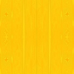 moire stripes in saffron and bright yellow.