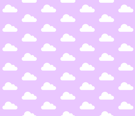 Lavendar Clouds fabric by levicp11 on Spoonflower - custom fabric