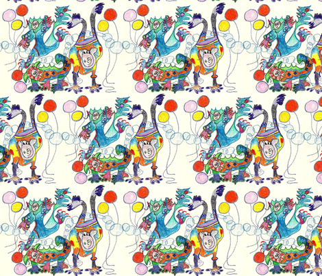 Monstrous Fun fabric by krussimages on Spoonflower - custom fabric
