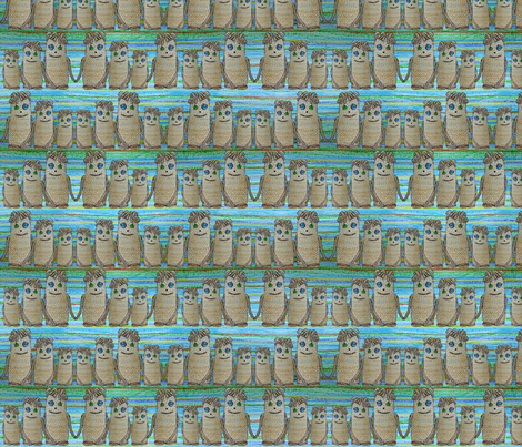 Crayon monsters fabric by linsart on Spoonflower - custom fabric