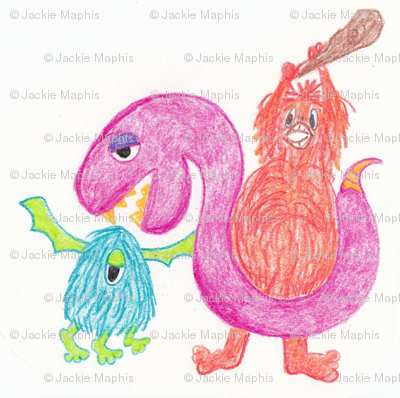 Crayon Monsters by ZoeyHeart