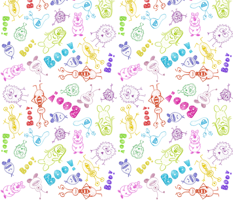 Everyday Monsters fabric by robyriker on Spoonflower - custom fabric