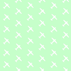 Mint Green Airplane