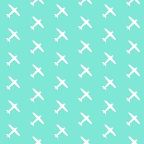 Teal Airplane