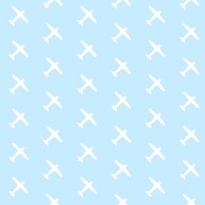 Light Blue Airplane