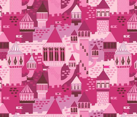 castles fabric by stacyiesthsu on Spoonflower - custom fabric