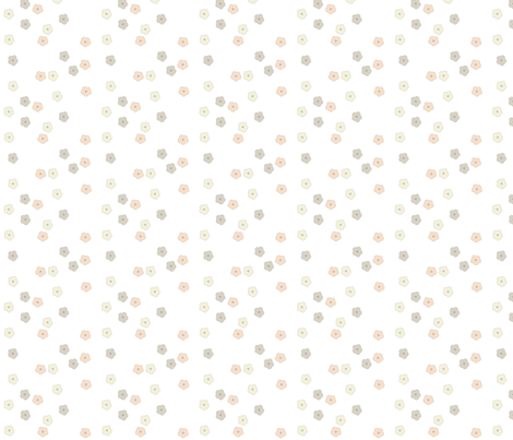 Polka Dot Floral White fabric by gertiebaxter on Spoonflower - custom fabric