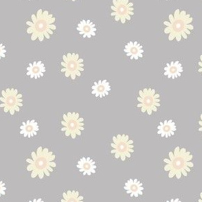 Gray and Cream Daisies