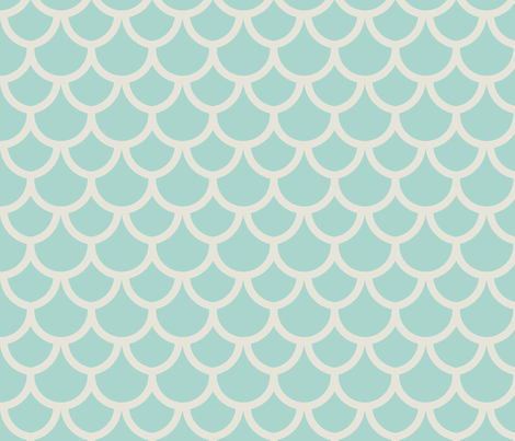 fish_scales_seafoam_small fabric by holli_zollinger on Spoonflower - custom fabric