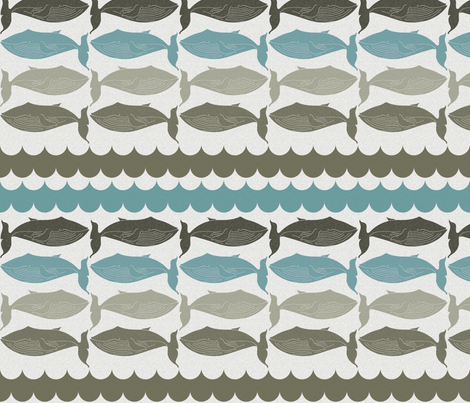 whales_and_waves_small fabric by holli_zollinger on Spoonflower - custom fabric
