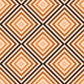 SQUARES - GEOMETRIC - RED AND ORANGE