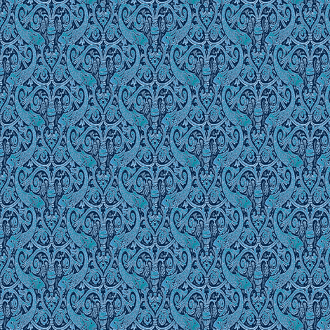Blue Fish fabric by amyvail on Spoonflower - custom fabric