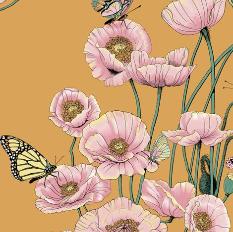 Rrrrpoppies_and_butterflies_pastel_on_gold_bg_shop_preview